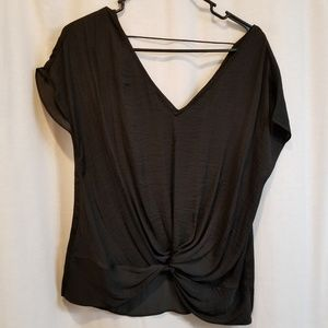 Naked zebra knotted lack top